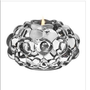 Orrefors clear votive candle holder